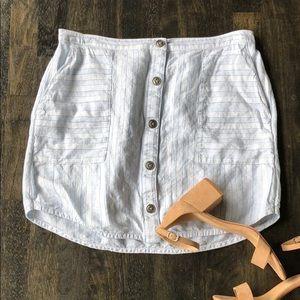 Lightweight Hinge Striped Skirt